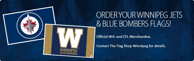Winnipet Jets Flags Winnipet Blue Bombers Flags